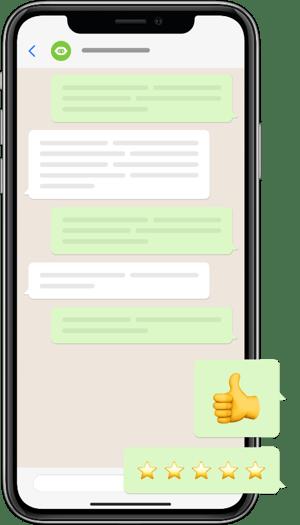 Celular com chat - Banner