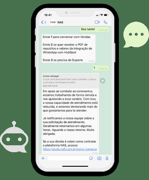 Crie chatbots para o WhatsApp