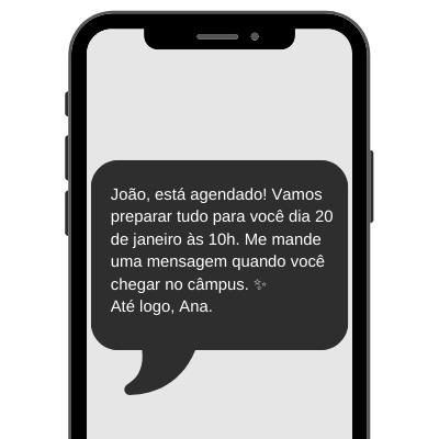 SMS para universidade – exemplo de uso.