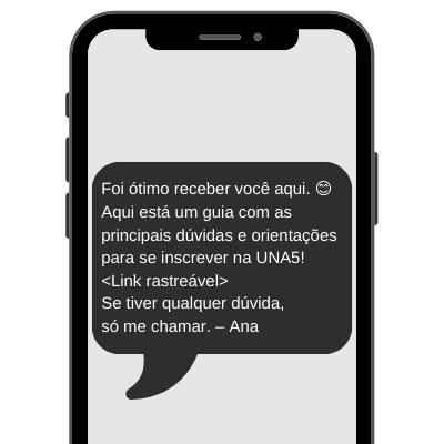 Exemplo prático de SMS para universidades