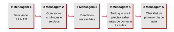 Workflow para envio de SMS em Universidades