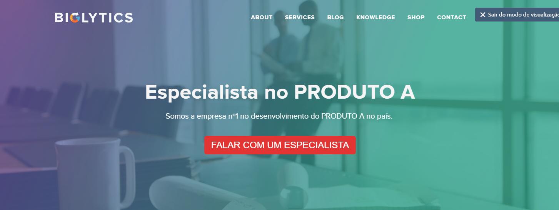 Página Inicial para Buyer Persona do Produto A