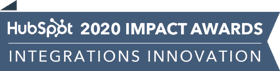 HubSpot Impact Awards 2020 - Integrations Innovation