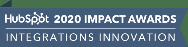 HubSpot Impact Awards 2020 - Integrations Innovation