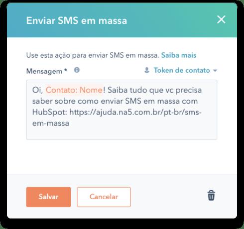 SMS em Massa com HubSpot