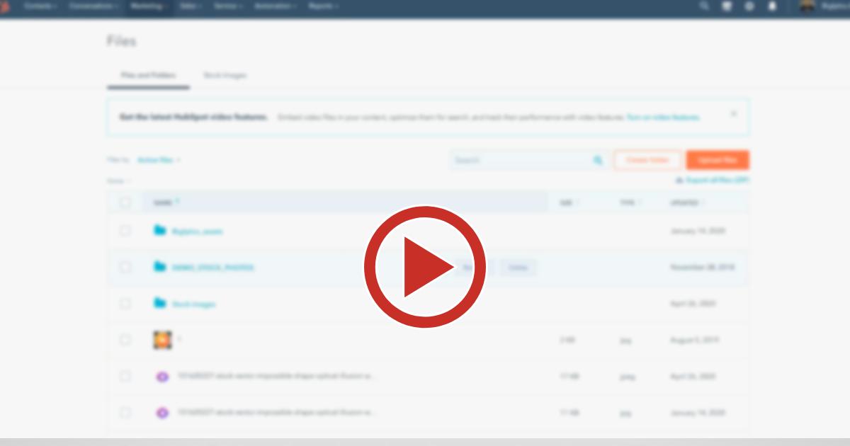 [Vídeo] Como gerenciar os arquivos do seu site com HubSpot CMS