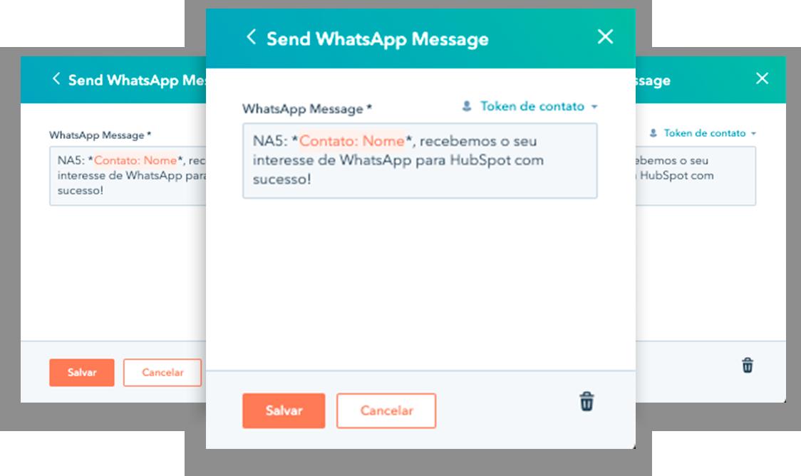 Mockup Conversas Workflow Automação